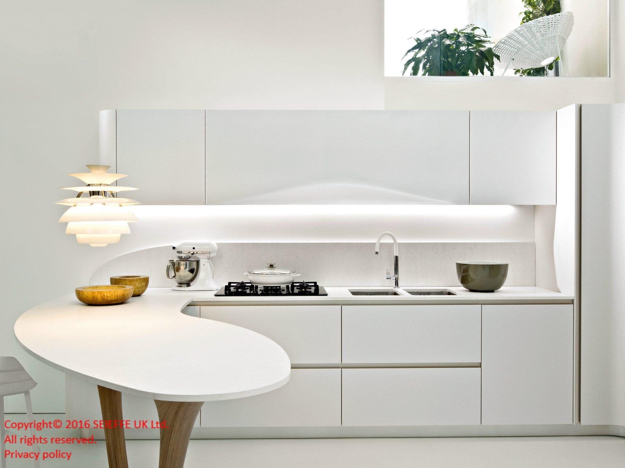 Okite kitchen top Bianco Assoluto 1665